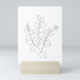 Minimalistic Eucalyptus  Line Art Mini Art Print