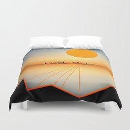 Horizon Sunset Orange Blue Duvet Cover