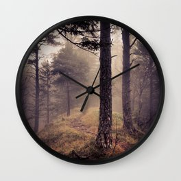 Mystic Forest in Slovenia 01 Wall Clock