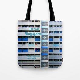 FRONT- Singapore HDB Flat Tote Bag