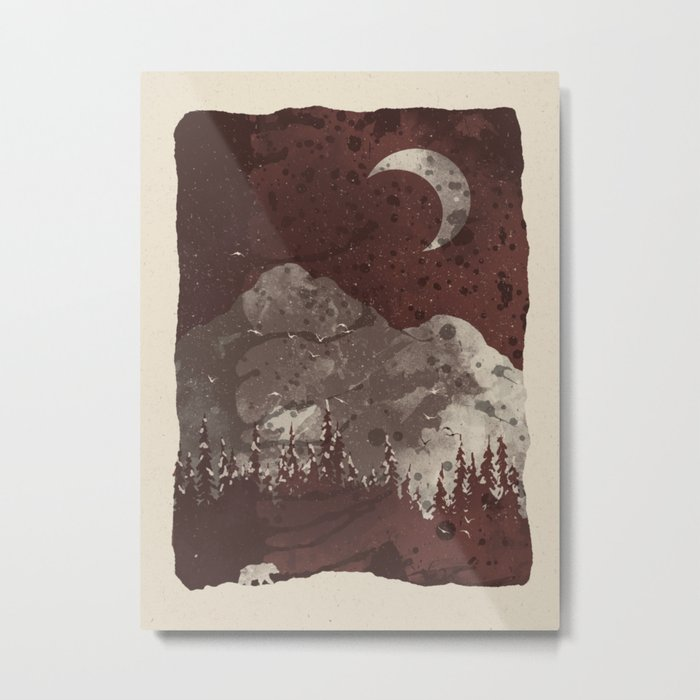 Winter Finds the Bear... Metal Print