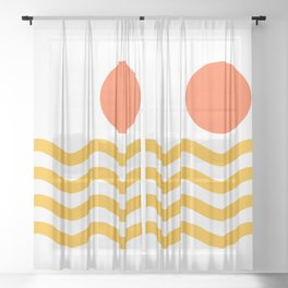 Abstract Landscape 11A Sheer Curtain
