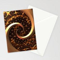 Golden Spirals Stationery Cards