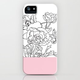 VESSEL - Floral Ink in Pink - Cooper and Colleen iPhone Case