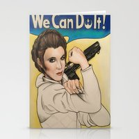 leia Stationery Cards featuring Leia by seventhwonderwitch