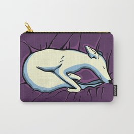 Sleeping Iggy Dog - Italian Greyhound - Whippet - Purple Carry-All Pouch