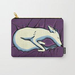 Sleeping Iggy Dog - Italian Greyhound - Whippet - Purple Carry-All Pouch