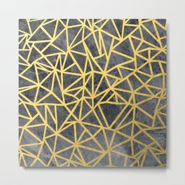 Ab Marb Gold Metal Print