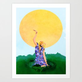 SUN LOVER Art Print