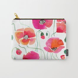 Wild Poppies Light Carry-All Pouch