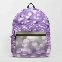 Purple Lavender Glitter #1 #shiny #decor #art #society6 Backpack