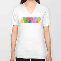 bonjour V-neck T-shirts featuring Bonjour by Mauricio Cosío