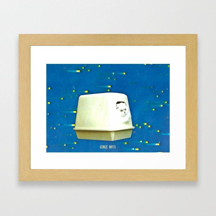 Online Privacy Handcut Collage Framed Art Print