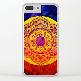 """""""SACRED GEOMETRY"""" WATERCOLOR MANDALA (HAND PAINTED) BY ILSE QUEZADA Clear iPhone Case"""