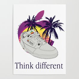 Apple vaporwave Poster