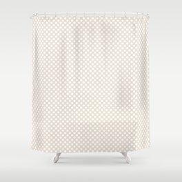 Eggnog and White Polka Dots Shower Curtain
