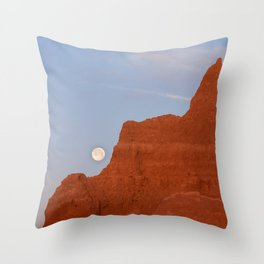Full Moon Setting Throw Pillow