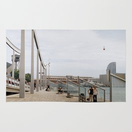Port Vell view - Barcelona Rug