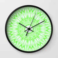 lime green Wall Clocks featuring Lime by Simply Chic
