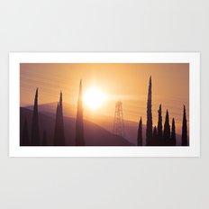 Power Line Silhouette Art Print