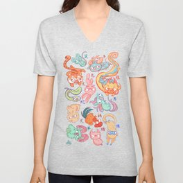 Chinese Animals of the Year Unisex V-Neck