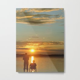 Sunset for Two Metal Print