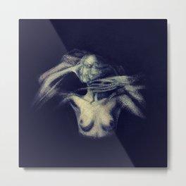An Imprint (A Study of a Tortured Soul)  Metal Print