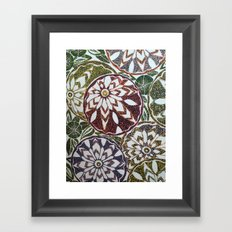 Zinnias Framed Art Print