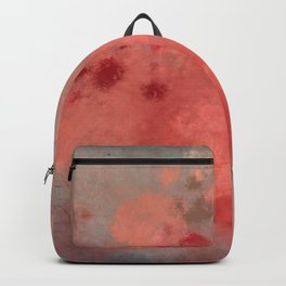 Coral peach grey letter batic look Backpack
