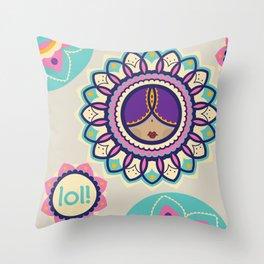 Punjabi lolita Throw Pillow