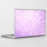 lavender Laptop & iPad Skins featuring Lavender Pixel Sparkle by 2sweet4words Designs