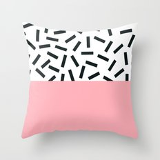 Memphis pattern 20 Throw Pillow