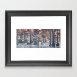 Adams Mill Pond Panorama 11 Framed Art Print