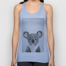 Baby Koala - Black & White Unisex Tank Top