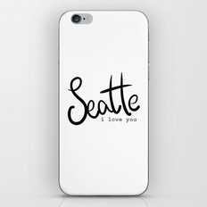 Seattle i love you  iPhone & iPod Skin