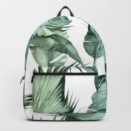 Tropical Palm Leaves Turquoise Green Blue Gradient Backpack