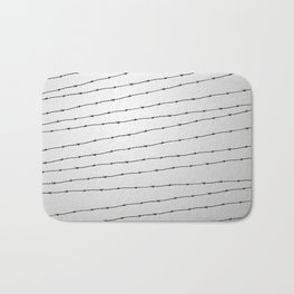 Cool gray white and black barbed wire pattern Bath Mat