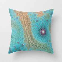 Aquae - Fractal Art Throw Pillow