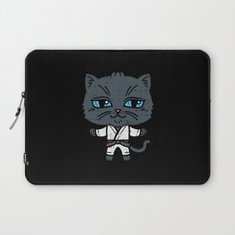 Kawaii Cat in BJJ Uniform Laptop Sleeve
