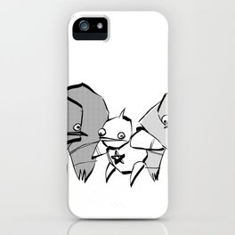 minima - slowbot 006 (clock) iPhone Case