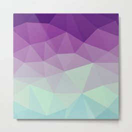 violet and blue polygon Metal Print