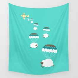 Sheepy clouds Wall Tapestry