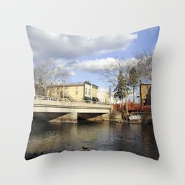 By the river 4 Throw Pillow