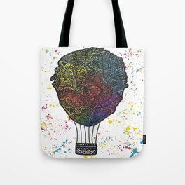 Colourful Hot Air Ballon Tote Bag
