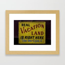 Staycation Framed Art Print