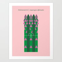vegetable Art Prints featuring Vegetable: Asparagus by Christopher Dina