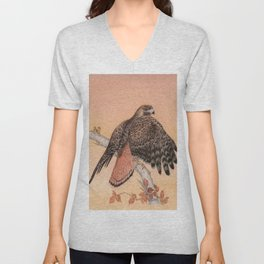 Red-tailed hawk Unisex V-Neck