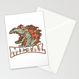 Bone to be Metal - Flaming Horse Design Stationery Cards