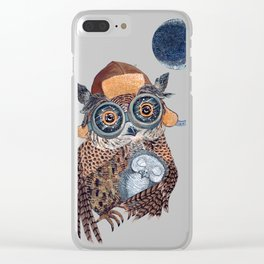 Owl mother Clear iPhone Case