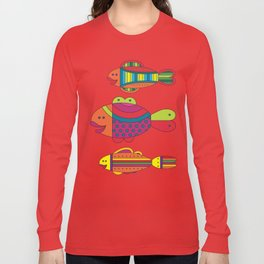 Stylize fantasy fishes under water. Long Sleeve T-shirt